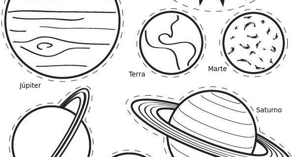 Blog Geocriativo O Sistema Solar Para Colorir