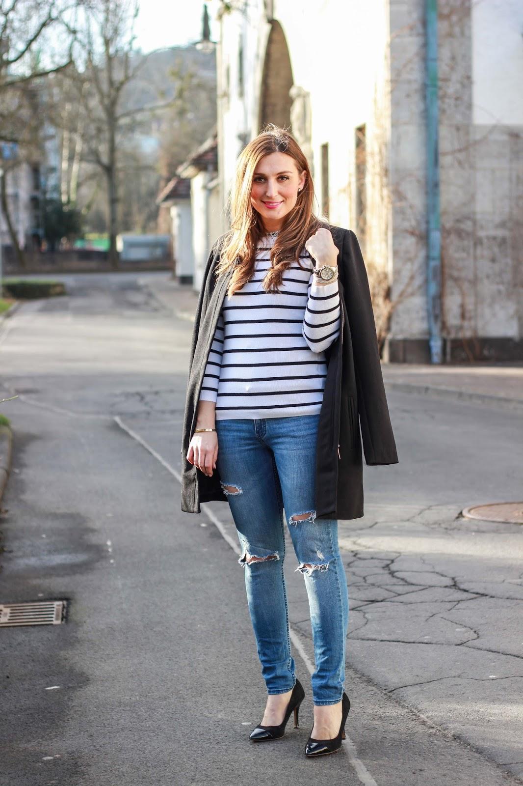 Fashionblogger aus Deutschland - Deutsche Fashionblogger - Schwarz Weiß - Only Hose _ H&M Outfit - Outfitinspiration Fashionblogger - Fashionblog