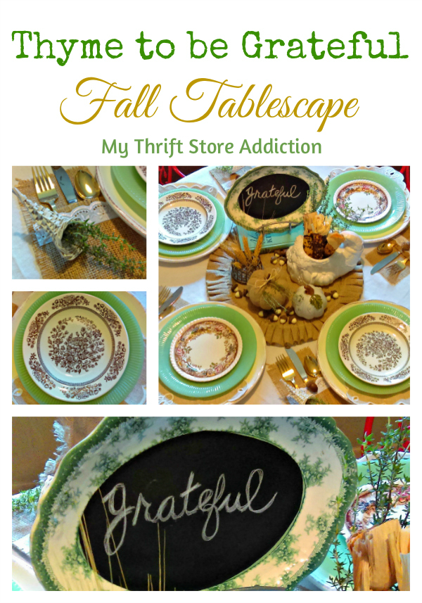 Thyme to be Grateful Fall Tablescape