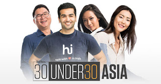 "Spotlight : 21 In Singapore Make In ""Forbes' 30 Under 30 Asia list In 2018"""