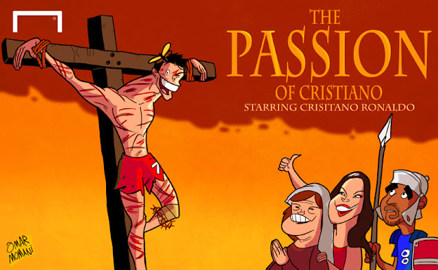 The Passion of Cristiano Ronaldo cartoon