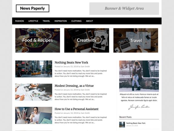 Newspaperly WordPress Theme
