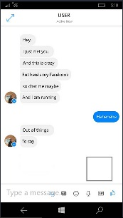 Primi Screenshot Facebook Messenger Windows10Mobile