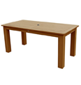 Highwood AD-DTB37-TFE Lehigh and Weatherly Rectangular Dining Table, 36 by 72-Inch, Toffee