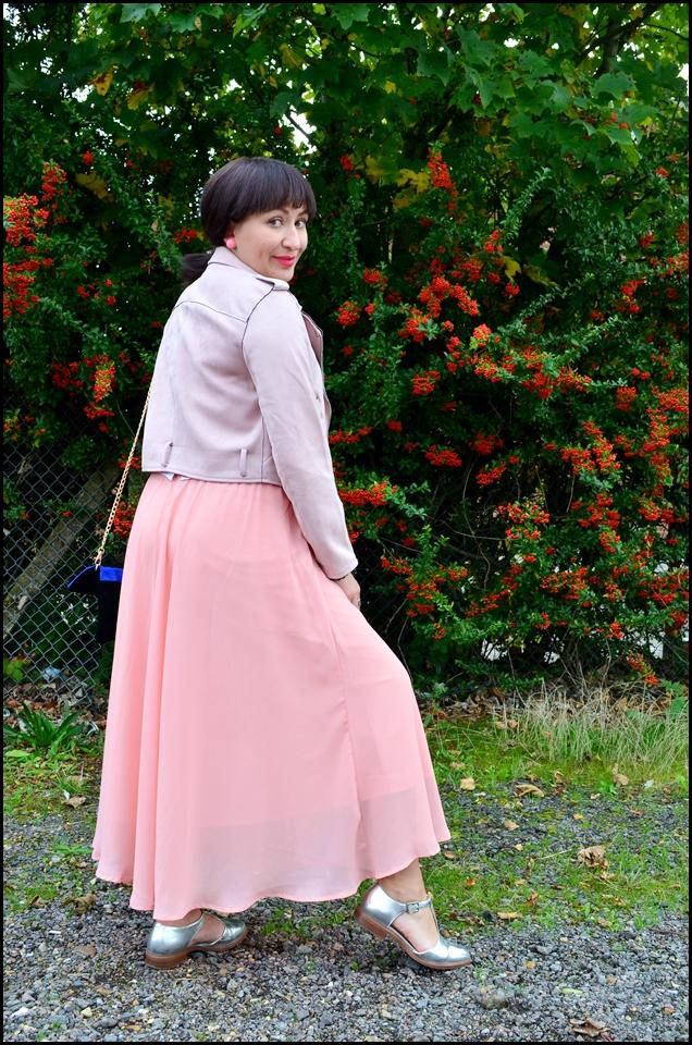 Bonprix Pregnancy Skirt, Bonprix Maternity Skirt, Zaful Biker Jacket, Spódnica Maxi, Maxi Skirt, Ramoneska Zaful, Blogerka modowa Puławy, Adriana Style Blog, Blogerka w ciąży