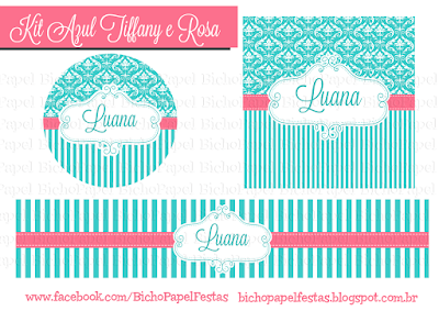 Kit Festa Azul Tiffany Rosa