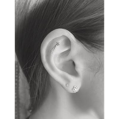ear Shooting Star Tattoo