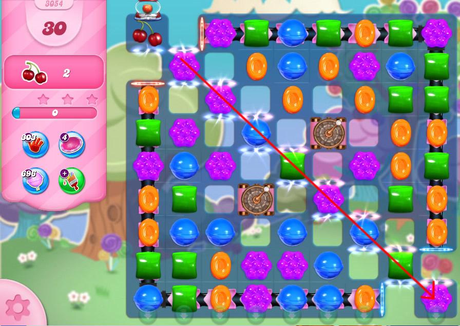 Candy Crush Saga level 3054