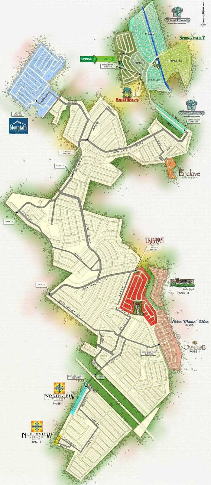 Filinvest Homes  Quezon City Map