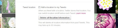 How to delete location information on Twitter