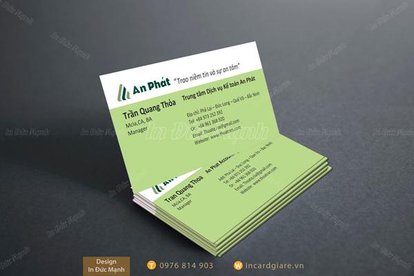Mẫu card visit Công ty An Phát