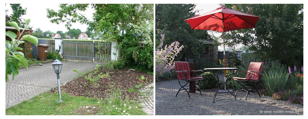 Garten vorher nachher - Gartenumgestaltung