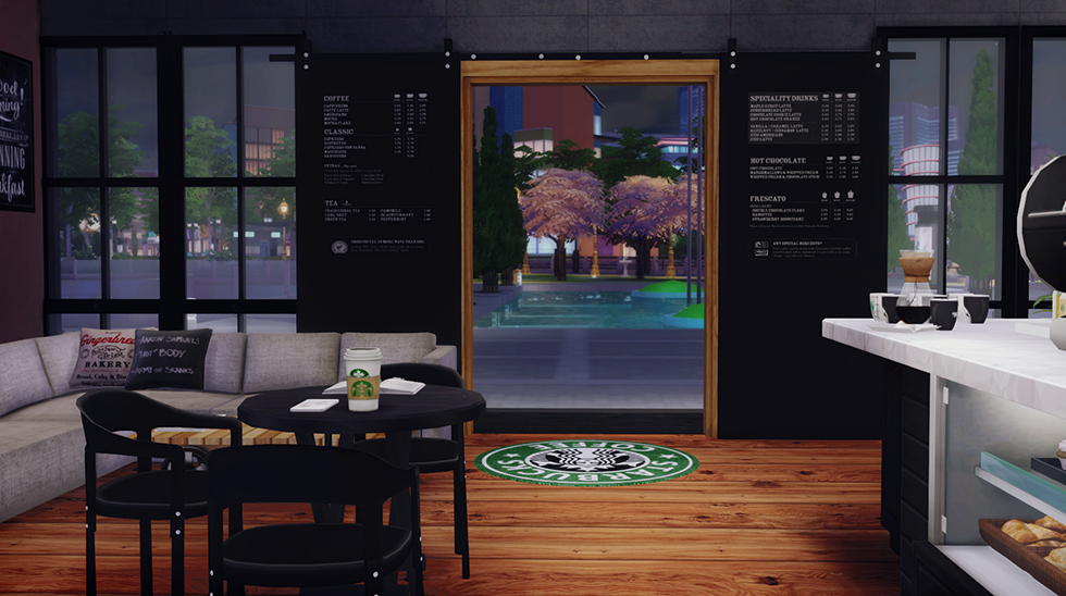 Tolix Chair Cushion Chairfx Covers Eu Starbucks Coffee Shop Lot (furnished) | Dreamteamsims
