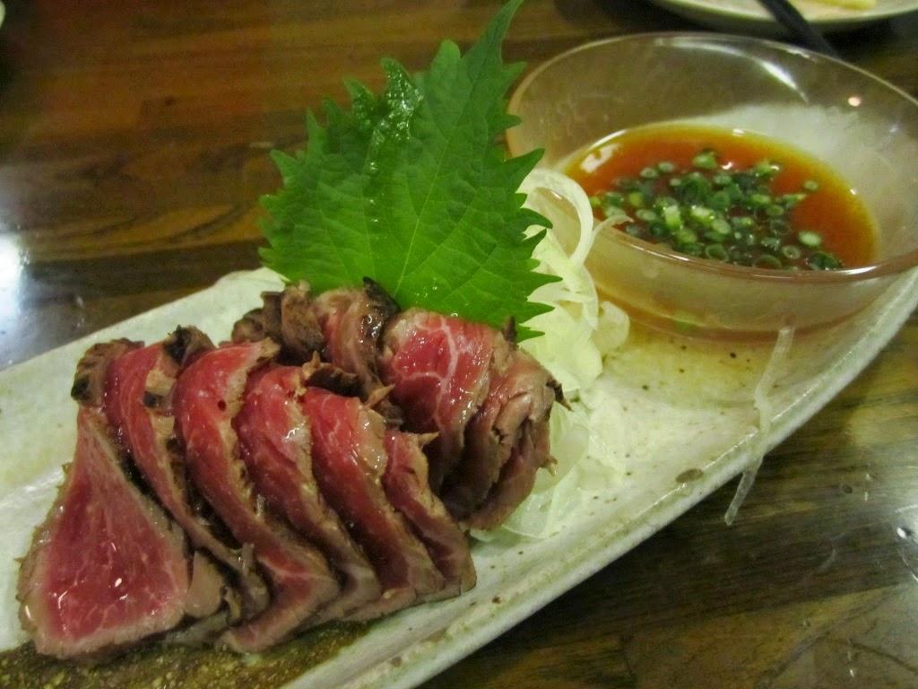 Towada Beef Tataki Beer Plaza Pilsen  十和田牛たたき ビアプラザピルゼン