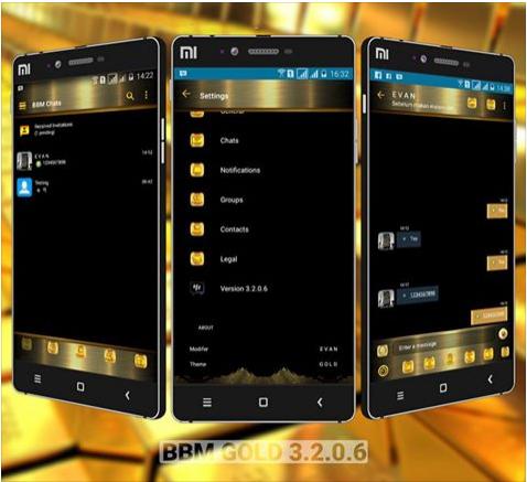 Download BBM Mod Gold v3.2.0.6 Apk Extra Full Fitur Update Terbaru Gratis
