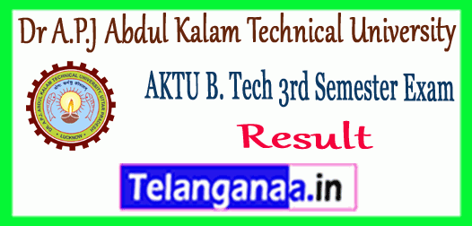 AKTU Dr A.P.J Abdul Kalam Technical University B.Tech 3rd Semester Result