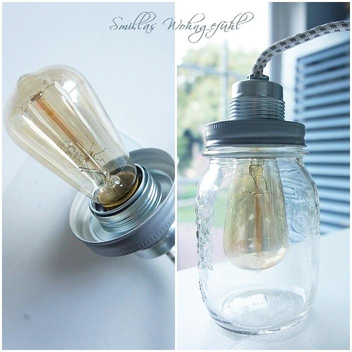 diy lampe statt essig g rkchen smillas wohngef hl. Black Bedroom Furniture Sets. Home Design Ideas