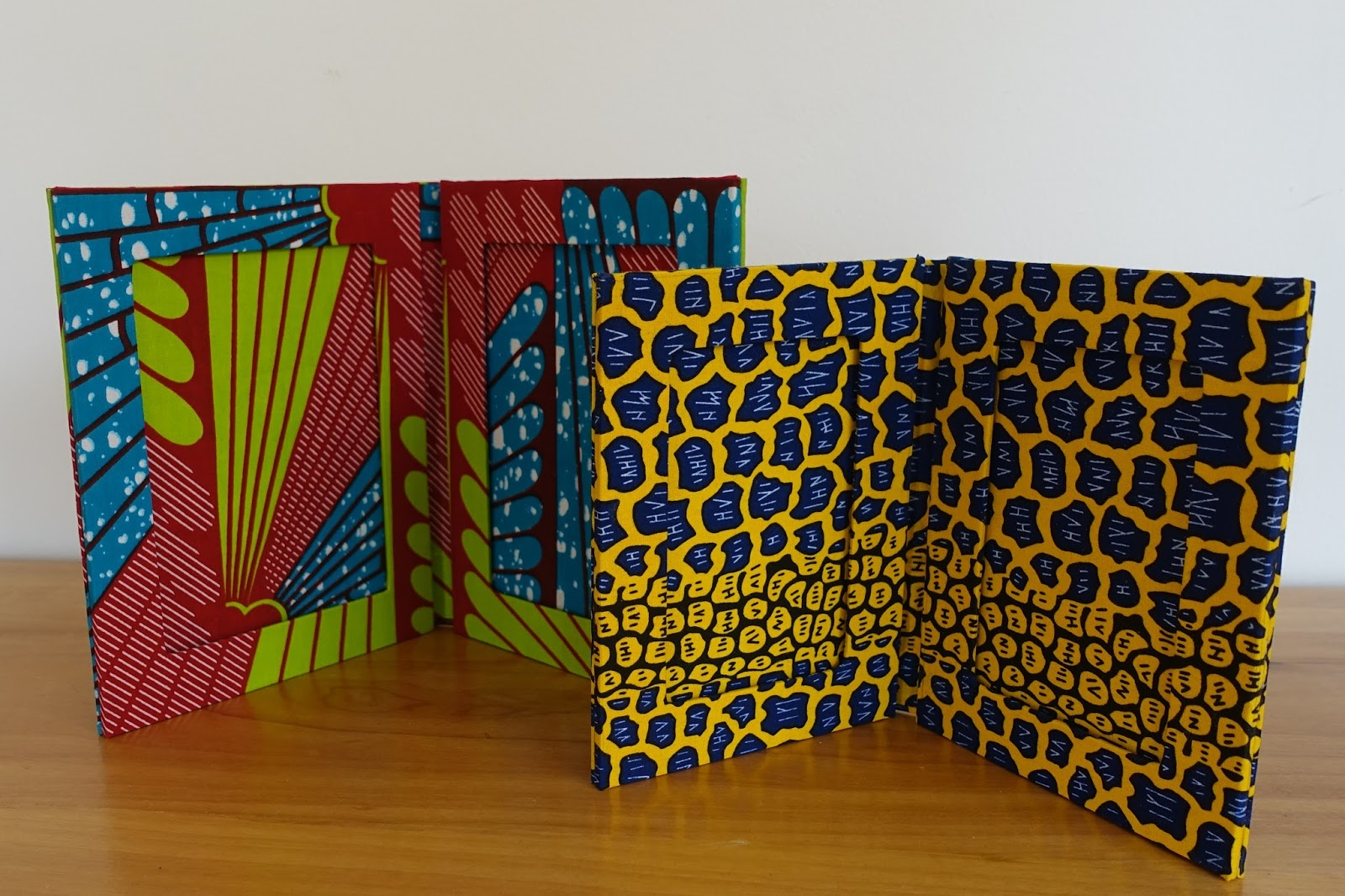 Quilts and Boxes: Picture frames with African fabric