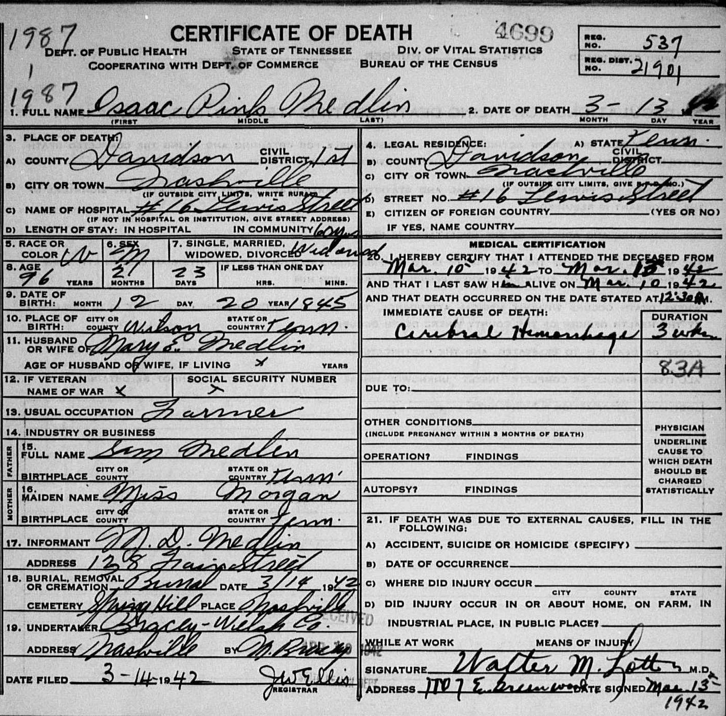 Clmroots maiden name for rebecca wife of samuel medlin the parents names given on rileys death certificate are father sam medlen b tennessee mother beckie morgan b tennessee 1betcityfo Image collections