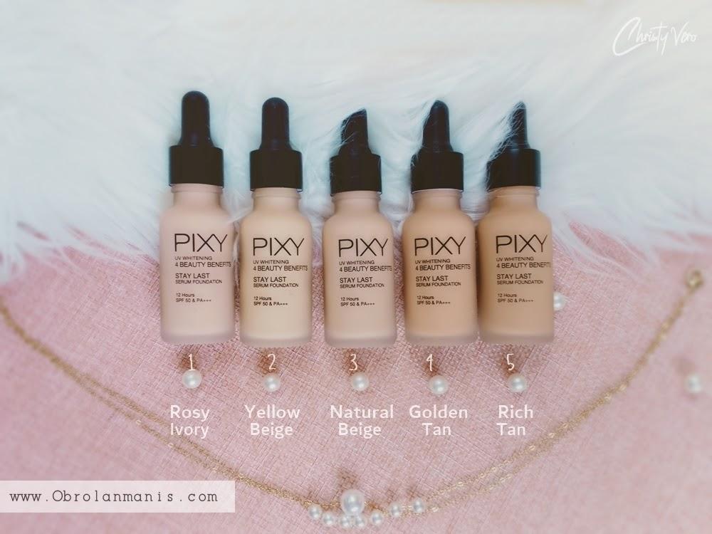Shades PIXY UV Whitening Stay Last Serum Foundation