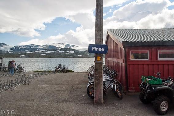 Estacion de Finse. Tren de Oslo a Bergen