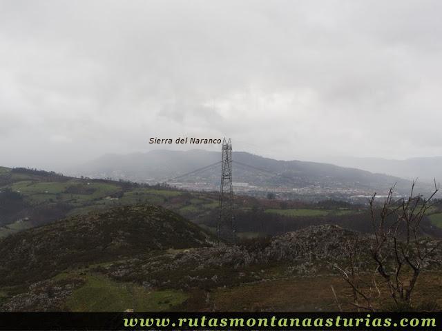 Vista de Oviedo y Naranco desde la Peñata, Langreo
