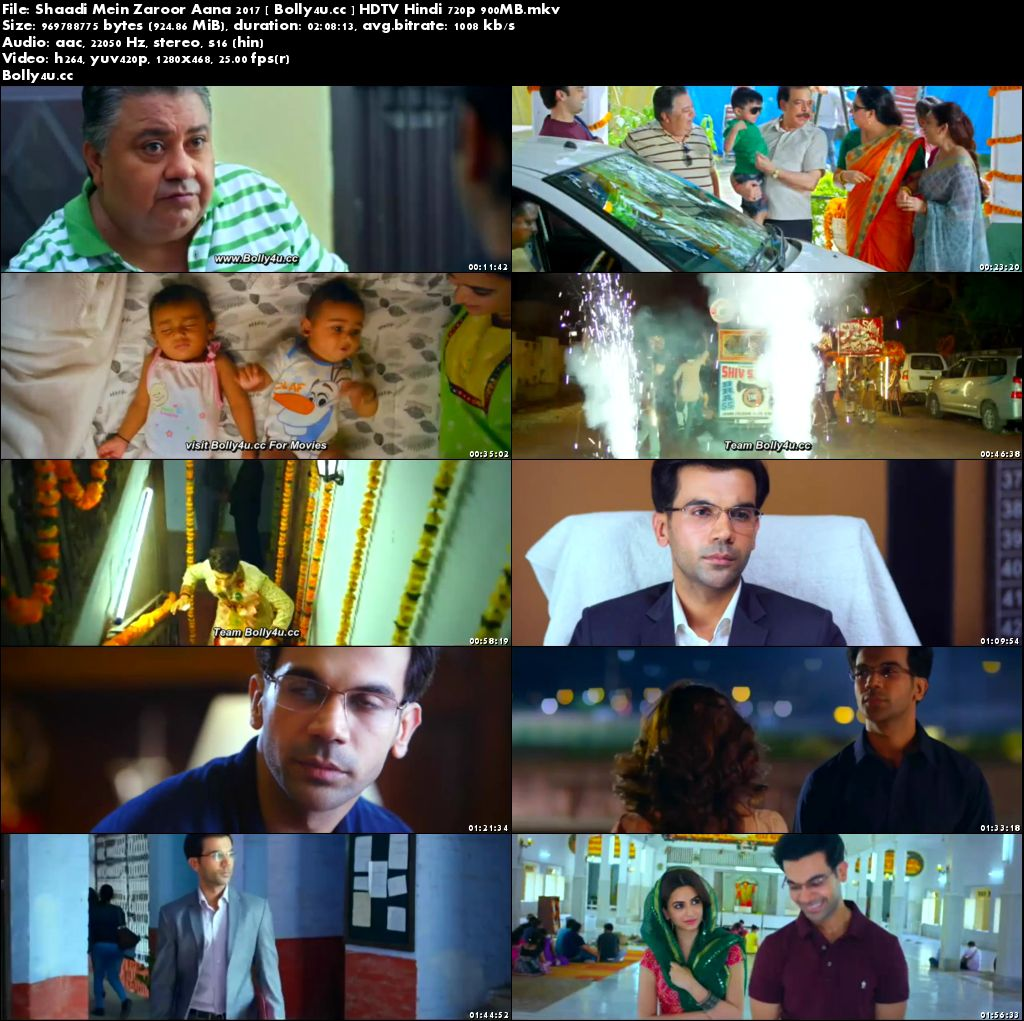 Shaadi Mein Zaroor Aana 2017 HDTV 300MB Full Hindi Movie Download 480p