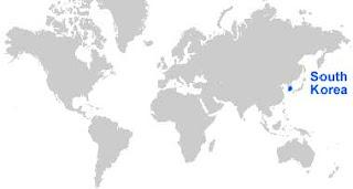 Gambar Peta letak Korea Selatan