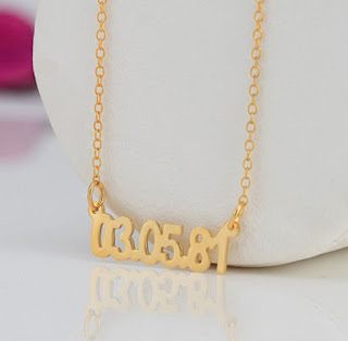 gold birthdate necklace