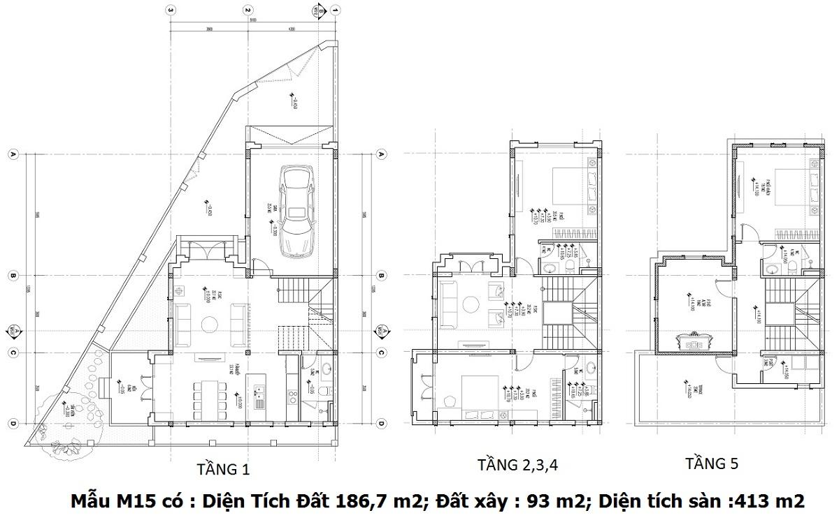 Thiết kế M15 Shophouse Larissa Đại Kim
