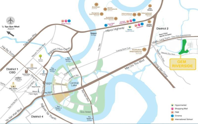 Gem Riverside - Căn hộ xanh tại Nam Rạch Chiếc Quận 2