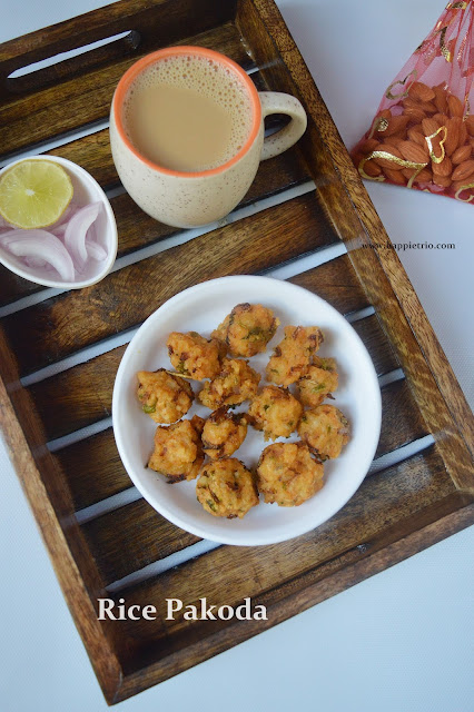 Rice Pakoda Recipe | Leftover Rice Pakora | Rice Fritters