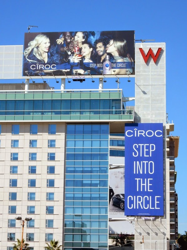 Ciroc vodka Step into the circle billboards