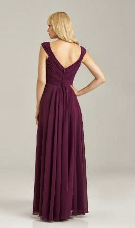 2.Eggplant Chiffon Dress In Autumn