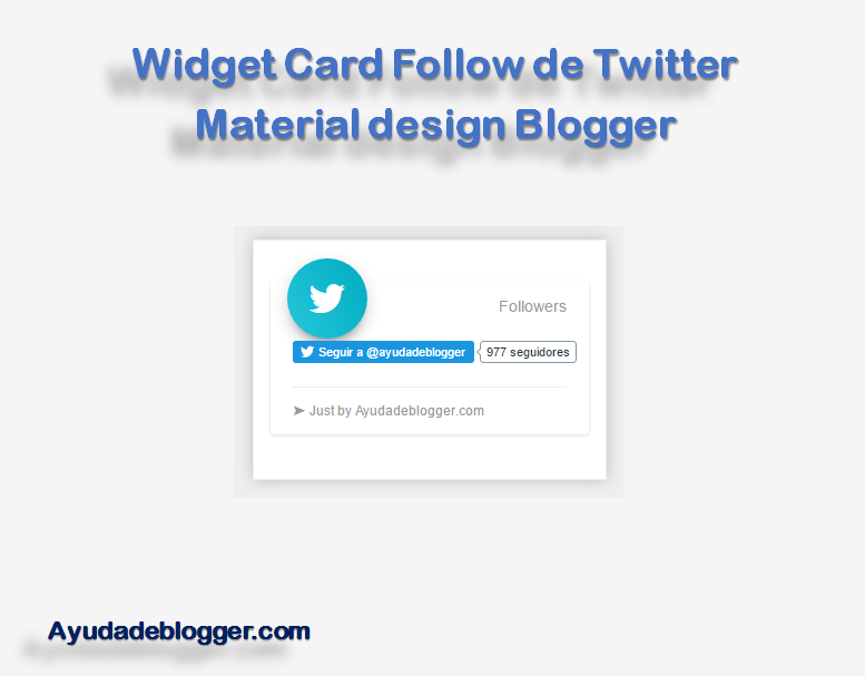 Widget Card Follow de Twitter Material design