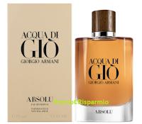 Logo Armani Acqua di Giò Absolu: richiedi il campione omaggio