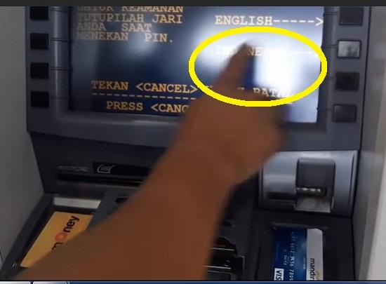 Langkah Pertama Menarik Uang Tunai di ATM Mandiri 2