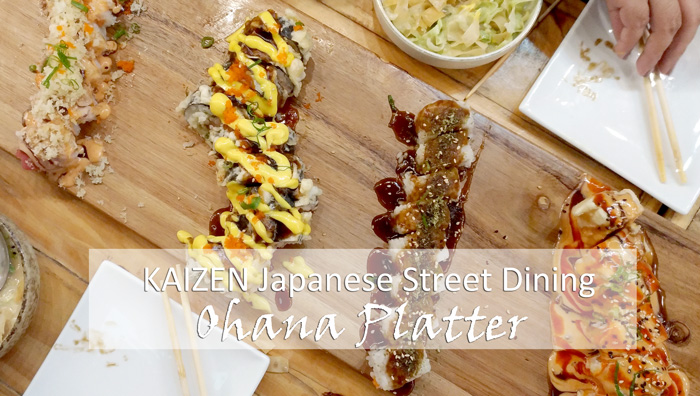 The Ohana Platter at Kaizen Japanese Street Dining