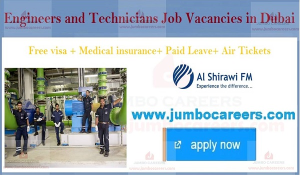 Diploma/ ITI Jobs in Dubai 2019 for Engineers and Technicians
