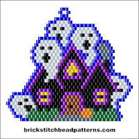 Click to view the Haunted House Halloween brick stitch bead pattern charts.