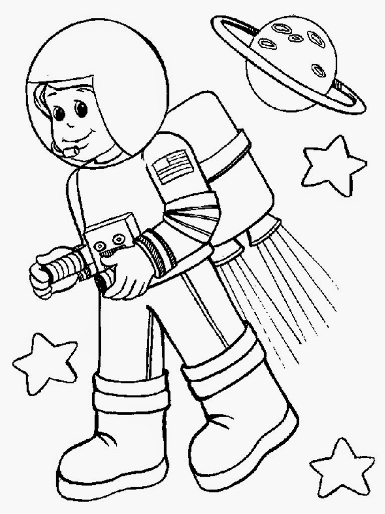 astronaut coloring pages printable | Astronaut Colouring Pages | Realistic Coloring Pages