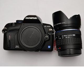 kamera DSLR second Malang - Olympus E420