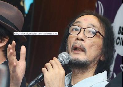 Kritis, Yockie Suryo Prayogo Kembali Dilarikan ke RS