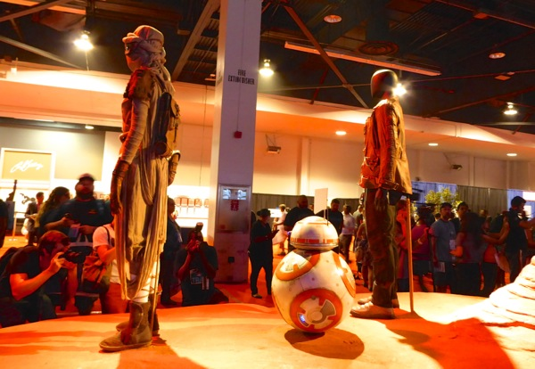 Star Wars Force Awakens movie costume exhibit