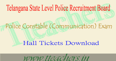 TS Constable hall ticket 2016 (communication) download tslprb exam answer key