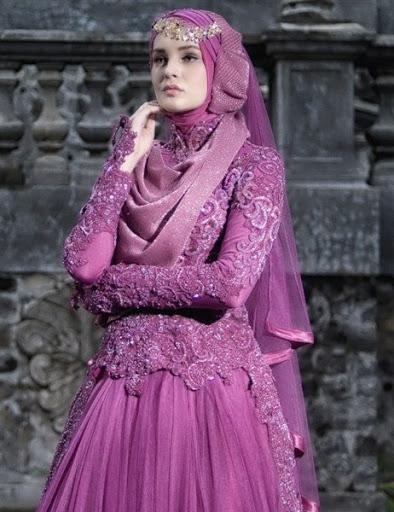 desain model hijab pengantin terbaru