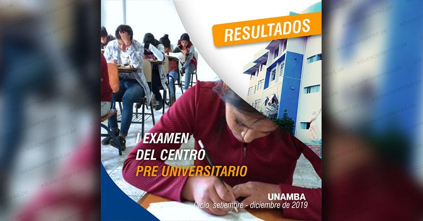 Resultados CPU UNAMBA 2019 (Domingo 27 Octubre) Primer Examen - Ciclo Septiembre - Diciembre - Centro Pre Universitario - Universidad Nacional Micaela Bastidas de Apurímac - www.unamba.edu.pe