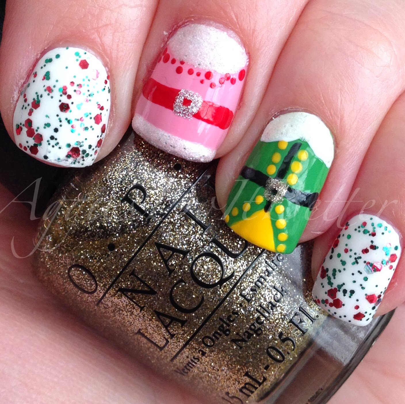 Christmas Nails Elf: Aggies Do It Better: Christmas 2013 Nail Art