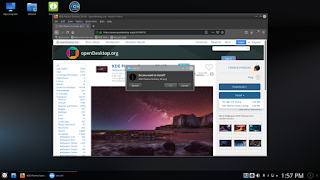 Netrunner's OpenDesktop integration, as seen through Firefox