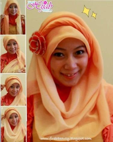 tutorial hijab kerudung paris style 1